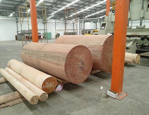 Ligne de production complète de contreplaqué établie à Surabaya en Indonésie