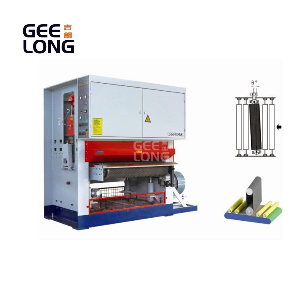 máquina de lijado de calibración de rodillo simple para trabajo pesado
